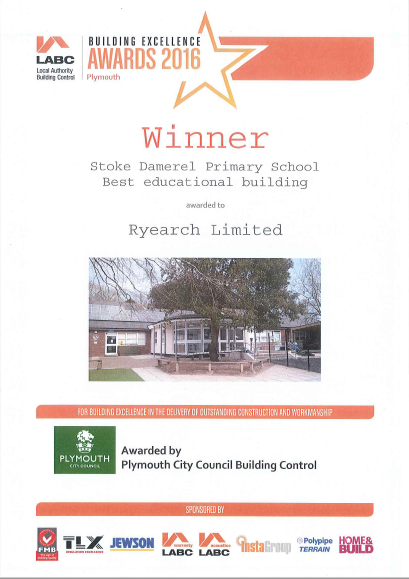 'Best Educational Building' Award for Ryearch